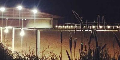 Unser Reitplatz bei Nacht